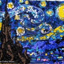 quilled starry night paper craft