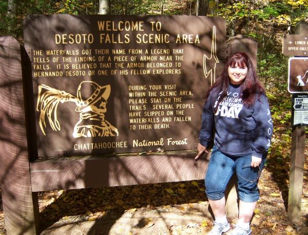 hiking at desoto falls new year resolution