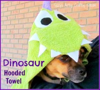 learn to sew series dinosaur hooded towel
