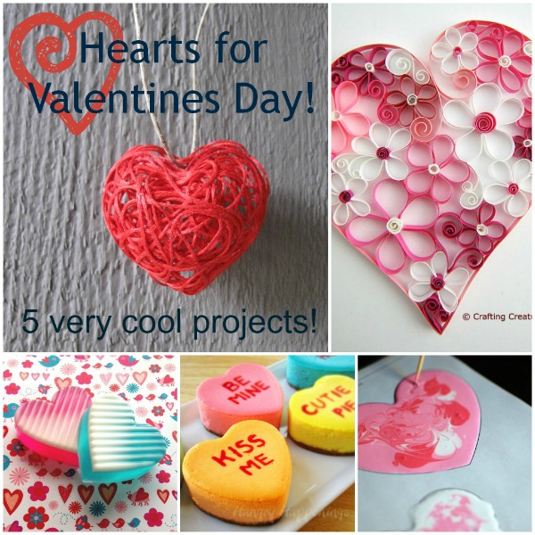 5 heart craft projects for valentines day
