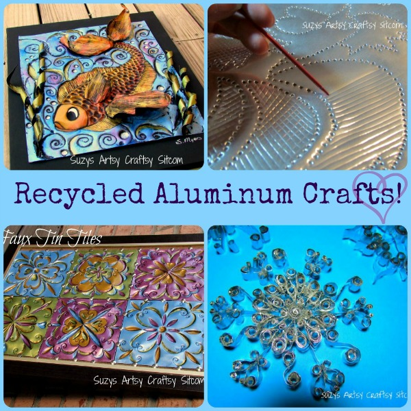 4 different recycled aluminum crafts