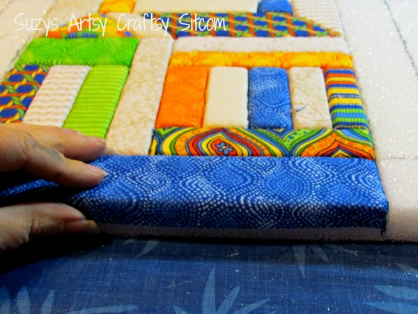 recycled crafts faux quilted bulletin board11