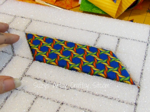 recycled crafts faux quilted bulletin board9