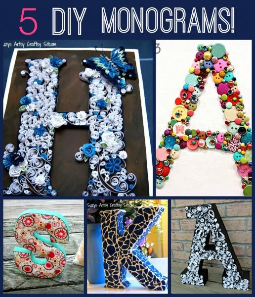 5 fun diy monograms