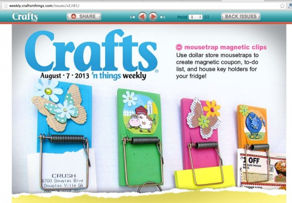 mousetrap clips crafts n things magazine