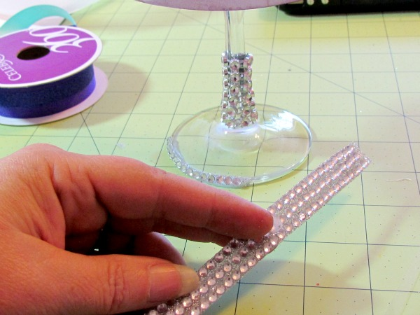 Diy Wedding Tea Light Table Lamp With Bling