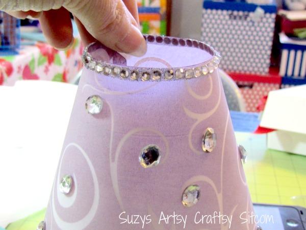 diy wedding -tea lamps with bling