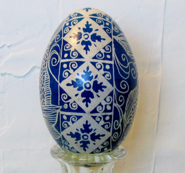 ukrainian egg ocean blue