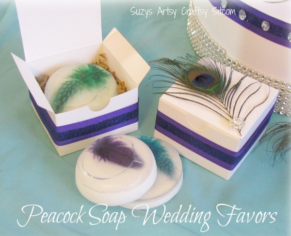 diy wedding- peacock theme soap gift box