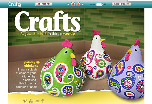 crafts n things paisley chickens