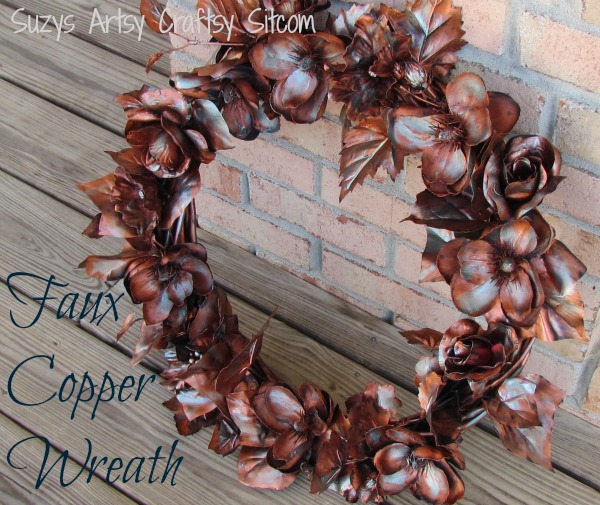 create a faux copper wreath