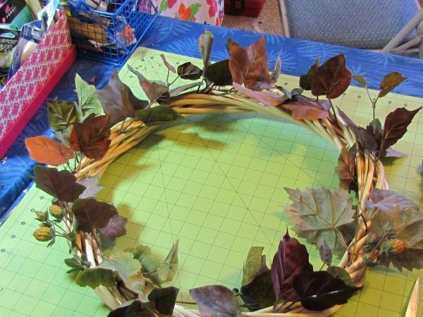 faux copper wreath tutorial