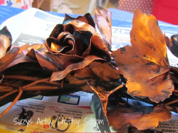 faux copper wreath tutorial