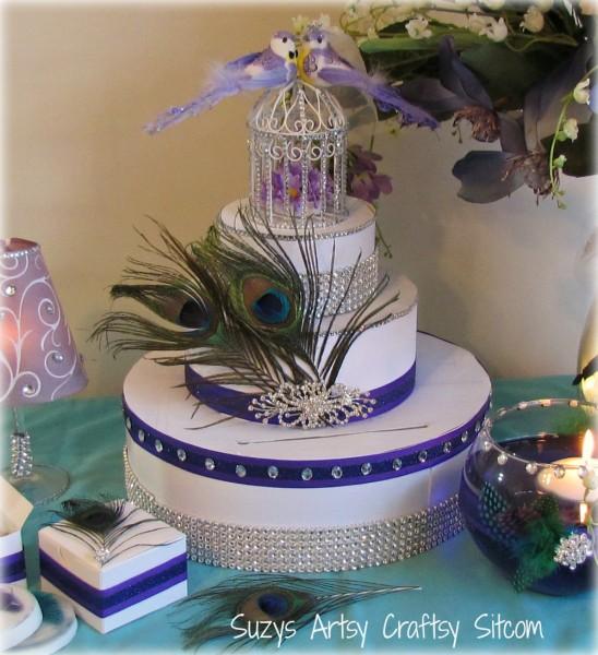 diy wedding card box peacock theme