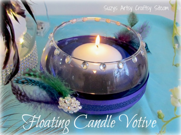Diy wedding floral centerpiece and floating candle votives diy weding floating candle votives junglespirit Image collections