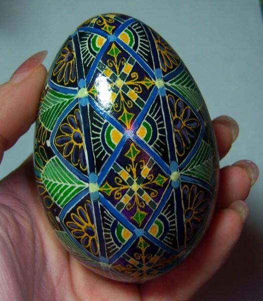ukrainian egg for easter gift
