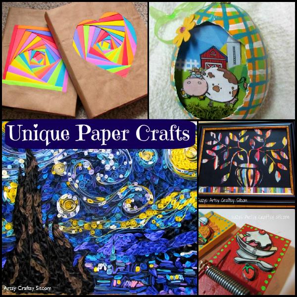 5 unique paper crafts