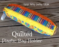 quilted plastic bag holder