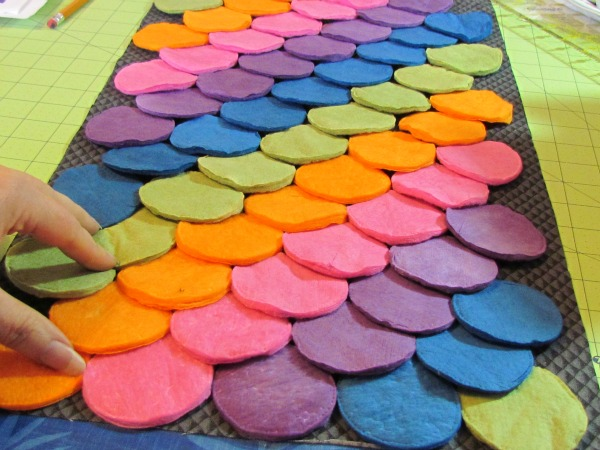 learn to sew rainbow laptop case