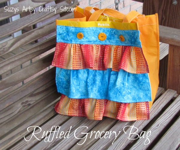ruffled grocery bag tutorial