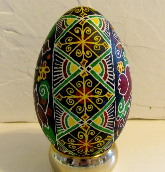 ukrainian goose egg singing birds