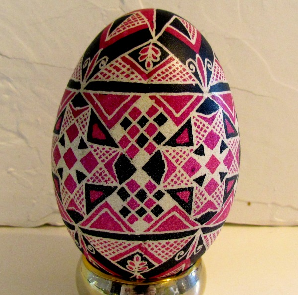 ukrainian goose egg tickled pink