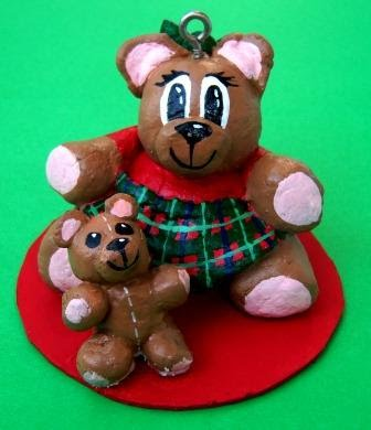 bread dough bear ornament