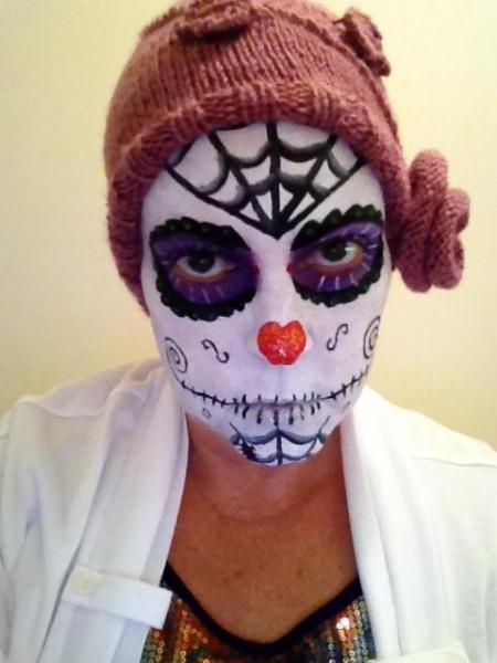 face painting hidden talent sugar skull