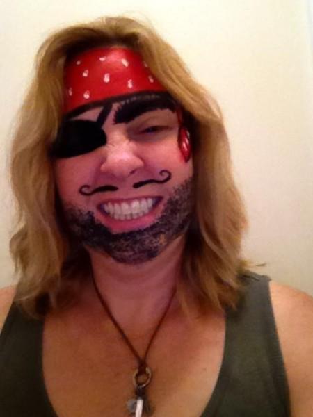 face painting hidden talent pirate
