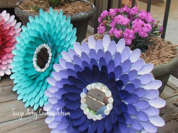 chrysanthemum mirrors recycled crafts