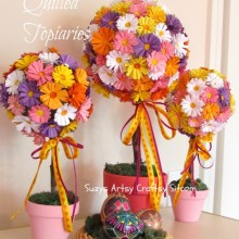 paper art quilled topiaries