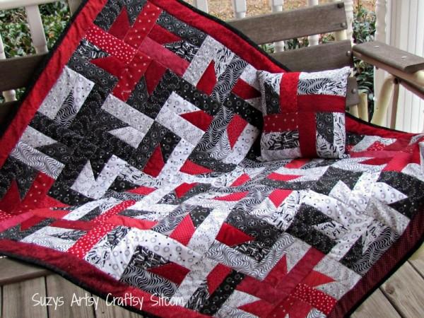 free quilt pattern windmills at night