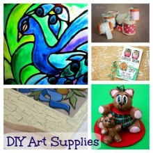 diy art supplies collage