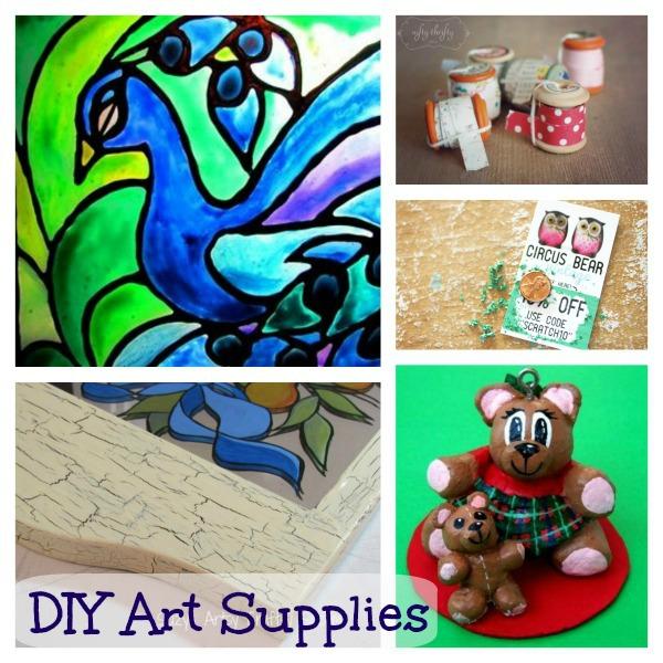 diy art supplies collage