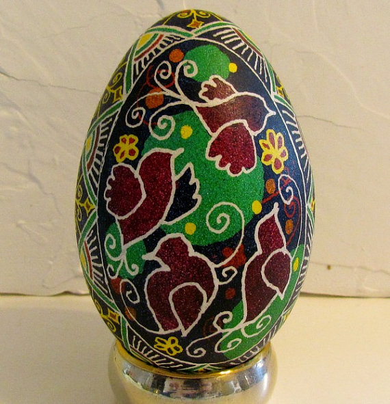 ukrainian egg- singing birds