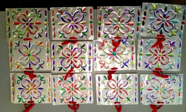 kids craft embossed aluminum