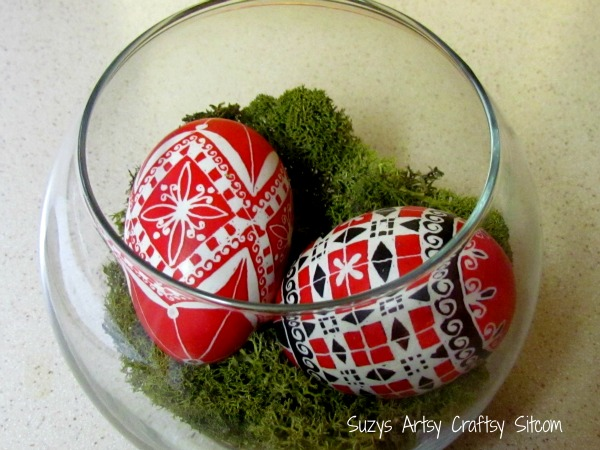 Ukrainian eggs are not just for easter creating ukrainian eggs involves melting bees wax and applying it to the egg shells with a cone like tool called a kitska you then dip it in a series of negle Image collections