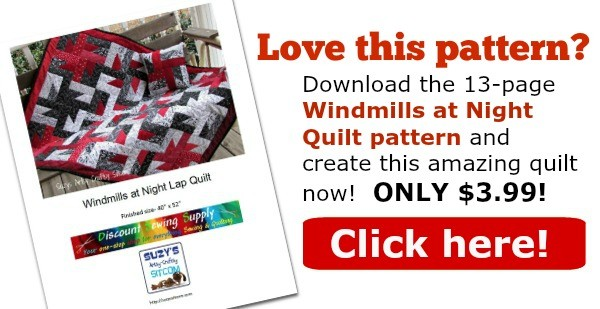 windmills at night pattern etsy