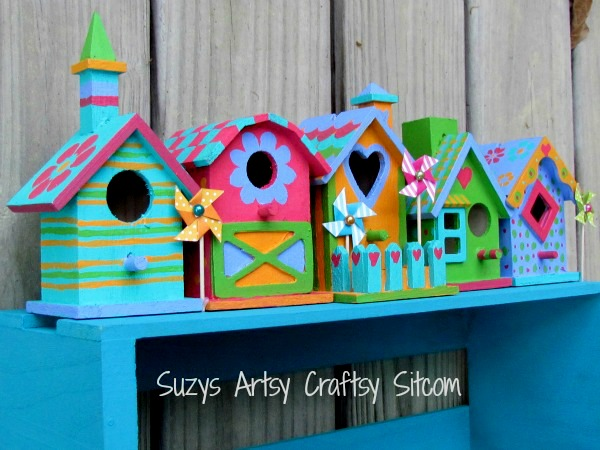 diy colorful bird house easy diy mothers day gifts that she will 4231