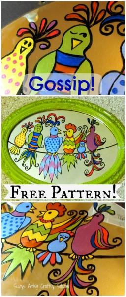 gossip birds free pattern