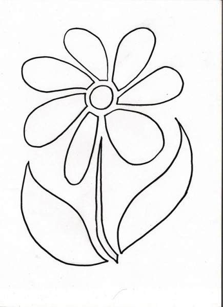 flower stencil pattern