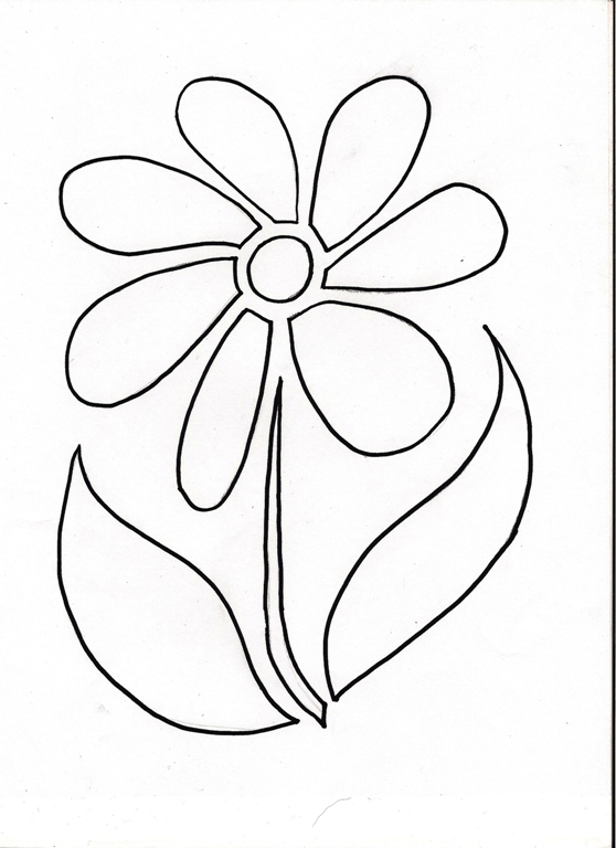 Flower Colouring Stencils: Gallery for gt simple flower ...