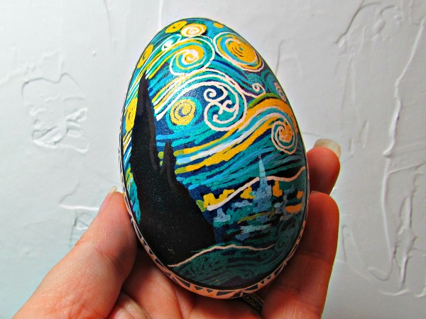 starry night ukrainian egg