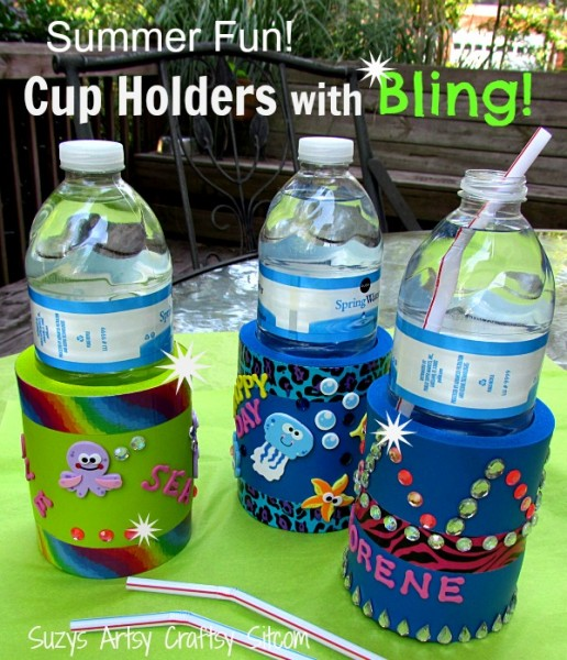 cup holders with bling