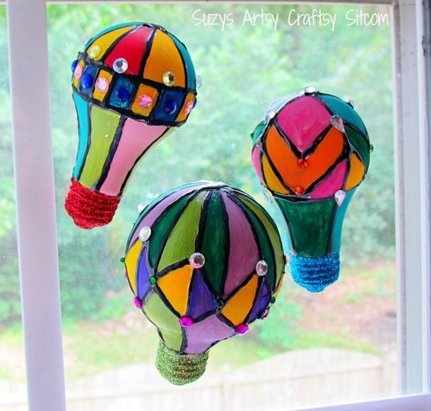 hot air balloons suncatchers