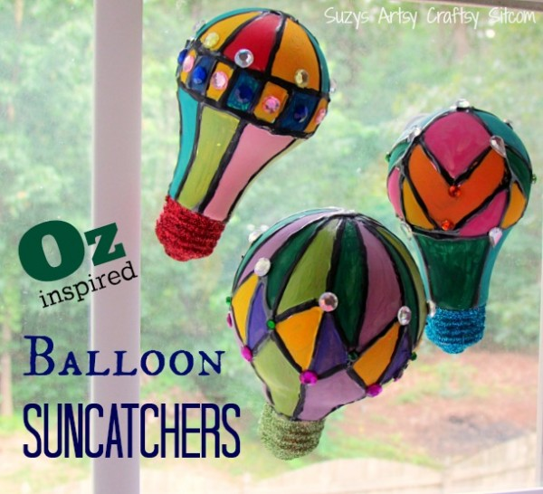 hot air balloons suncatchers