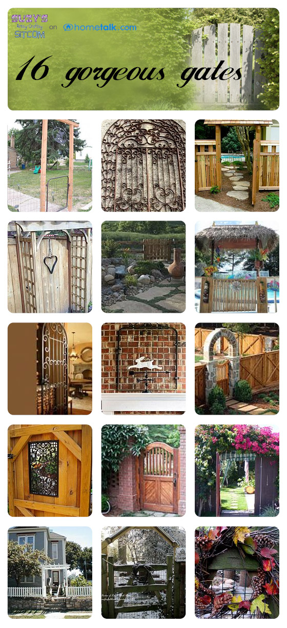 beautiful gates from hometalk