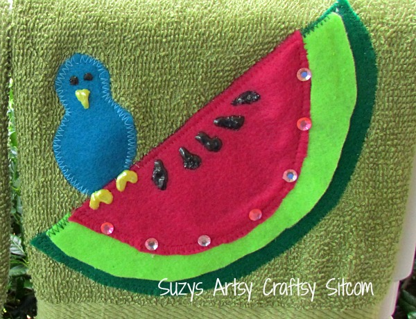 watermelon hand towels
