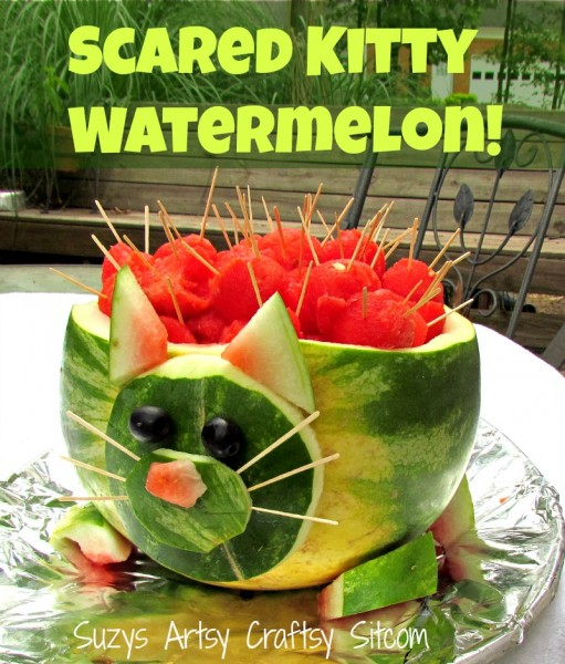 scared kitty watermelon