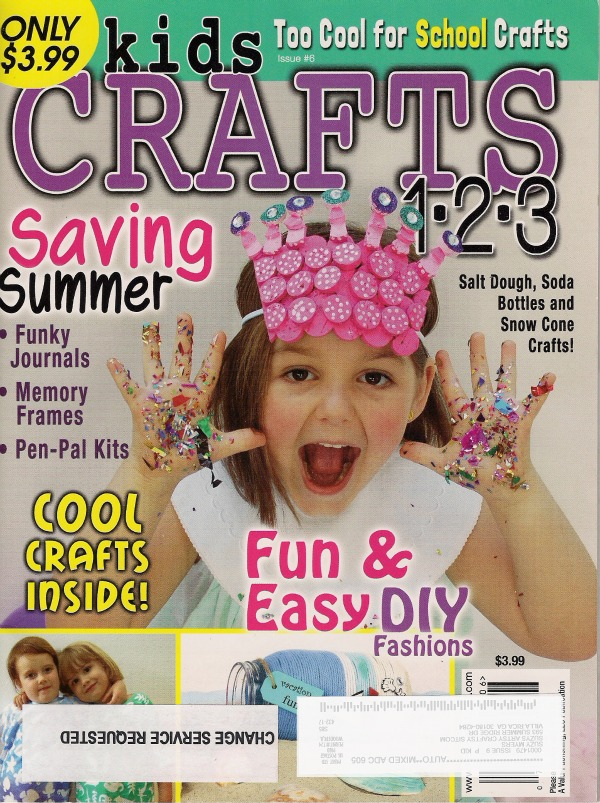 the sitcom featured in kids crafts 1 2 3 On craft magazine for kids